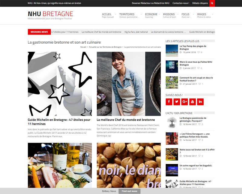 Site web association NHU-Articles