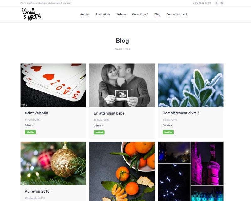 Site web pour photographe-Quimper