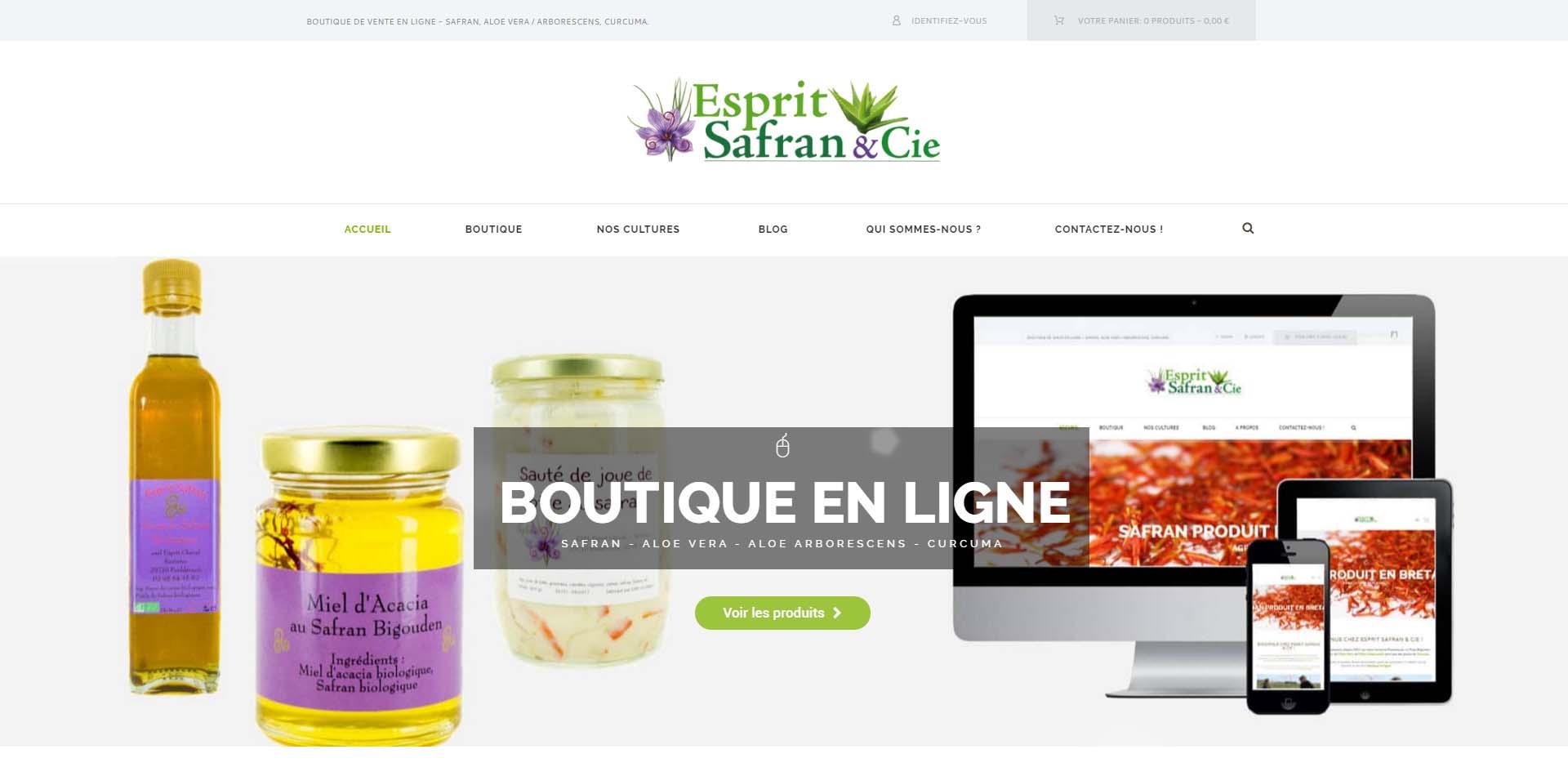 Cr ation de boutique en ligne safran aloe et curcuma en for Bouquet en ligne