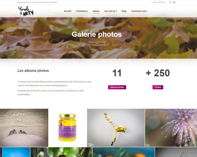 Site internet pour photographe-Finistère