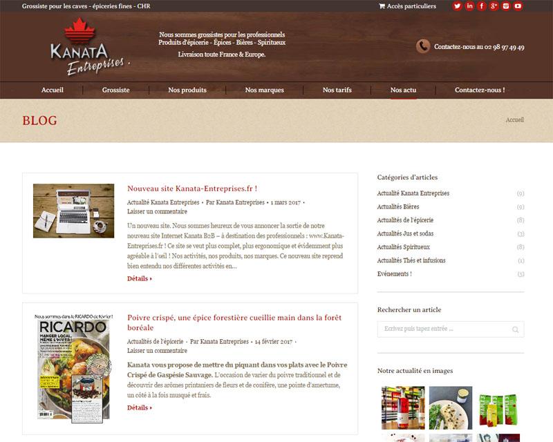 Création de site web pour épicerie fine