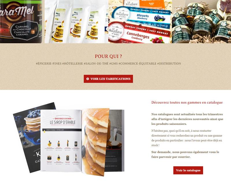 Conception de site web pour épiceries fines