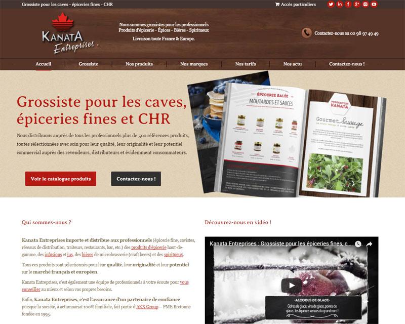 Création de site internet pour épicerie fine