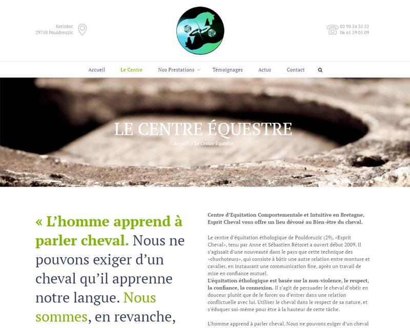 Site internet-Centre équestre