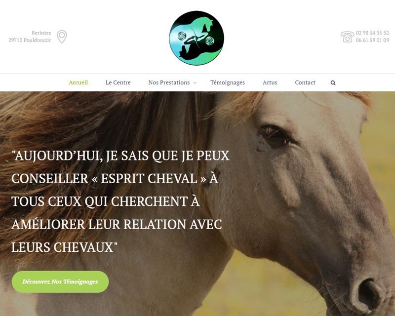 Site internet-Centre équestre-Finistère