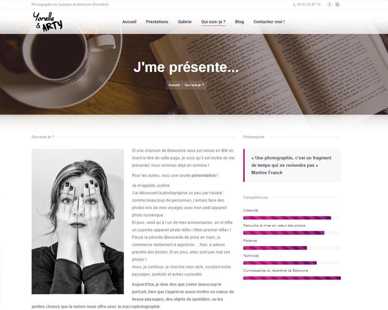 Site web pour photographe-Finistère