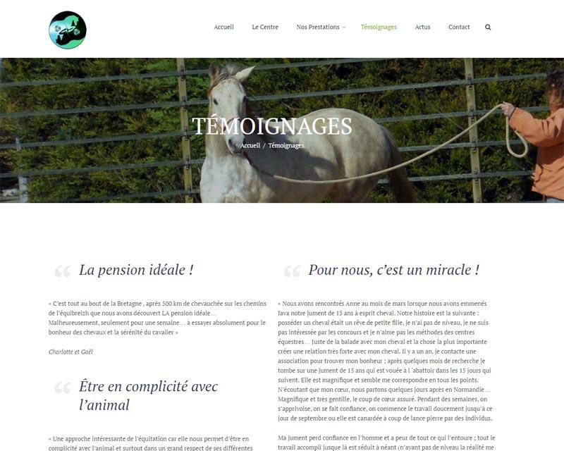 Site web-Centre équestre-Finistère