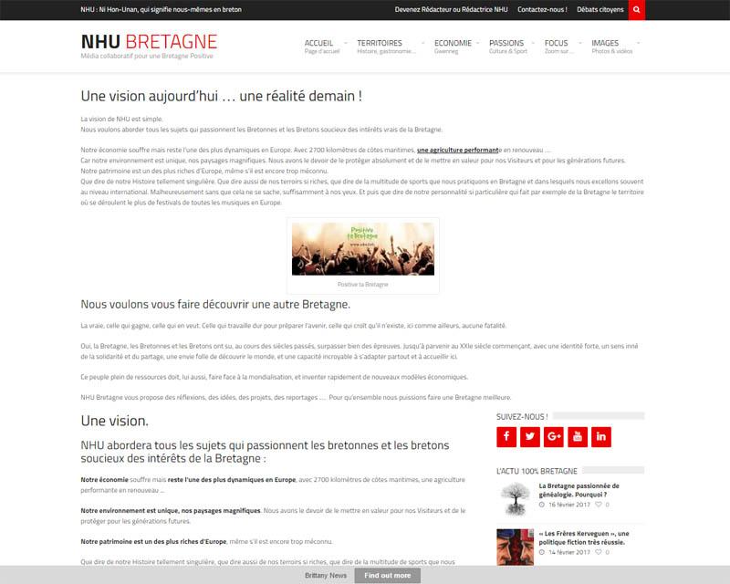 Site web association NHU-Vision