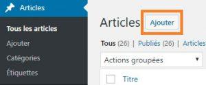 Créer un article WordPress