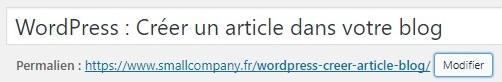 Titre article WordPress