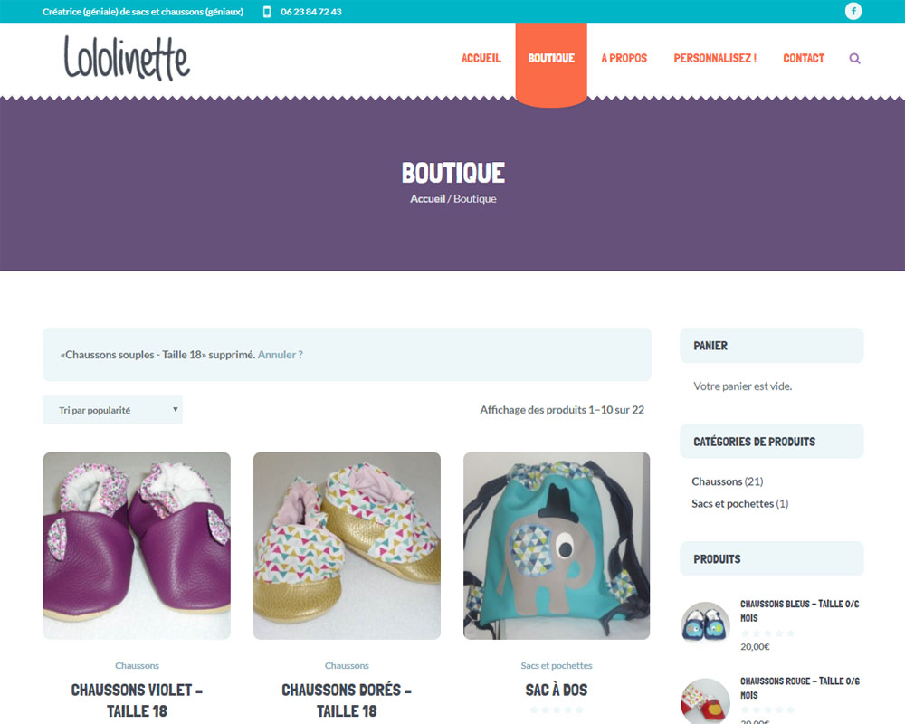 Boutique - Lololinette