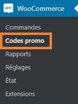 Codes promo - WooCommerce