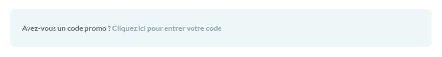 Codes promo - exemple