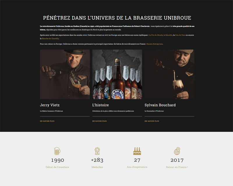 Site web bières