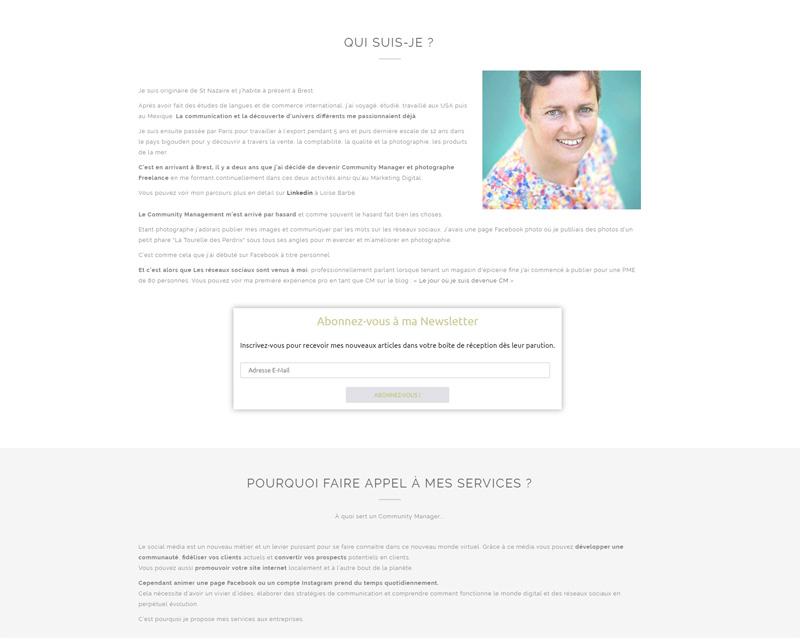 Site web community management