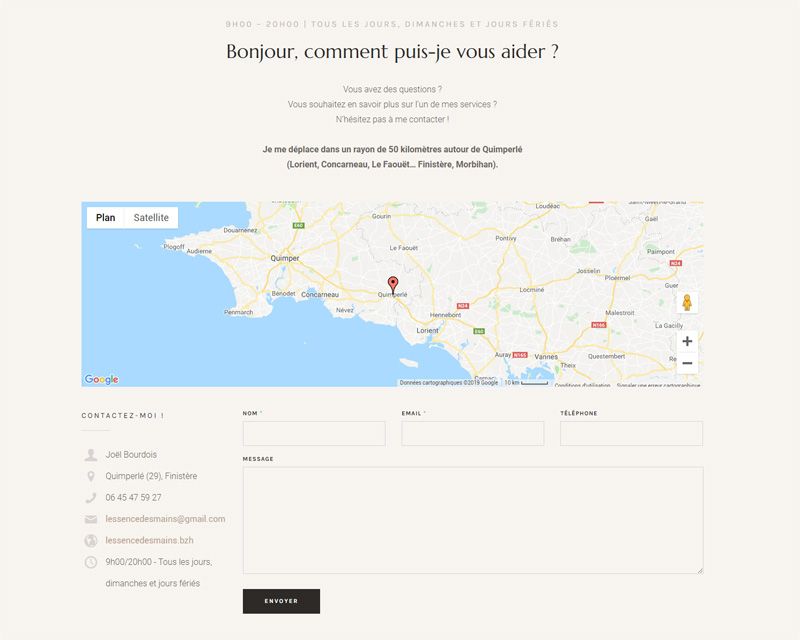 site web - massage