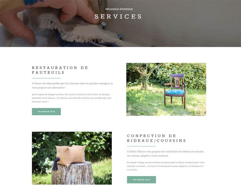 Services - L'atelier d'Enora